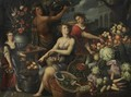 An Allegory With Bacchus And Ceres - Jean Baptiste de Saive