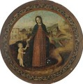 The Virgin And Child In A Landscape - Ambrogio Bergognone