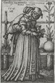 The Lady And Death - Hans Sebald Beham
