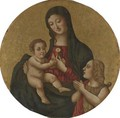 Madonna And Child With The Young St. John The Baptist - Sicilian School