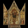 Triptych The Coronation Of The Virgin With Saints - Italian Unknown Master