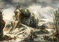 Winter Landscape With A Cavern - Francesco Foschi