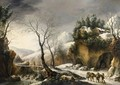 Winter Landscape, Probably The Tunnel Through The Cliffs At Il Furlo - Francesco Foschi