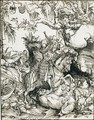 St. George On Horseback Slaying The Dragon - Lucas The Elder Cranach