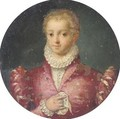 Portrait Of A Girl, Half Length, Wearing A Pink Dress With A White Ruff - (after) Tranquillo Cremona