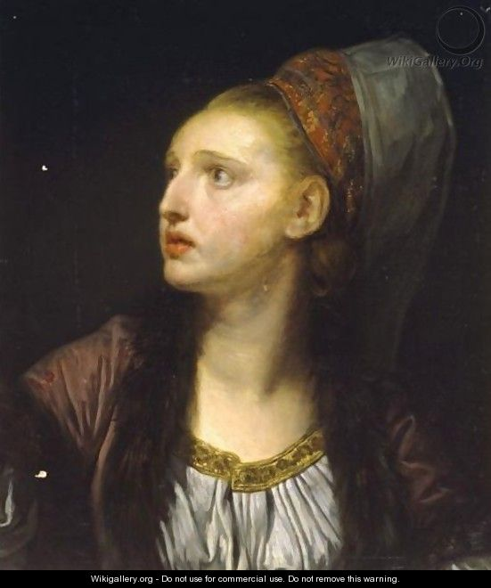 Portrait Of An Actress As Roxanne In Bazajet - Jean Baptiste Greuze