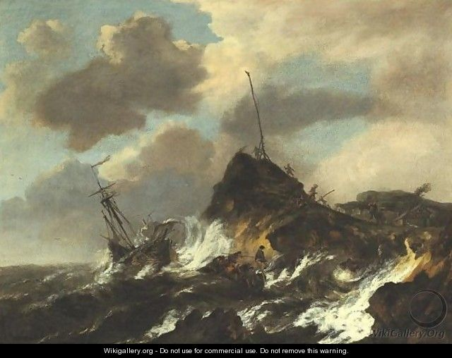 Stormy Seascape - (after) Jacob Van Ruisdael