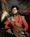 Portrait Of An Officer Of A Grenadier Infantry Company - English School