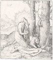 St Jerome In The Desert (The New Hollstein 113) - Lucas Van Leyden