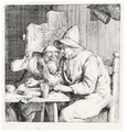 The Two Singers In The Inn (Holl.4) - Cornelis Dusart