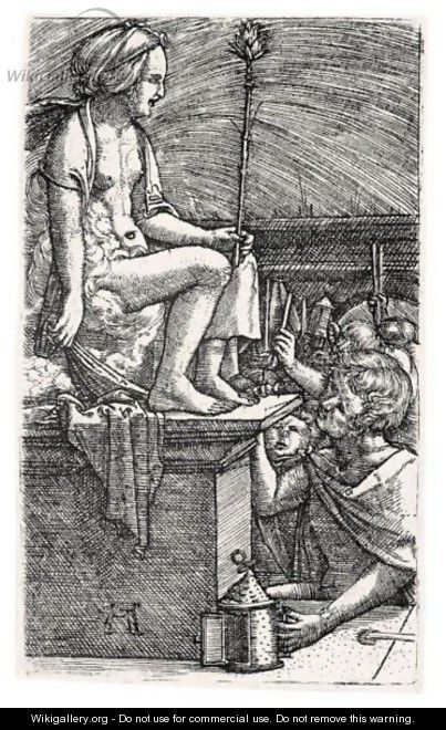 The Revenge Of The Sorcerer Virgil (Hollstein E50) - Albrecht Altdorfer