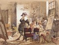 Artist in his studio - Count Alexandre Thomas Francia