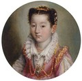 Portrait Of A Girl, In A Pink Embroidered Dress, Wearing A Coral Necklace - Lavinia Fontana