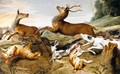 Deer Being Chased By Hounds - (after) Frans Snyders