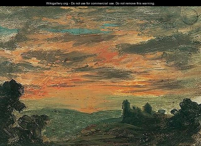 A View Of A Sunset - (after) John Linnell