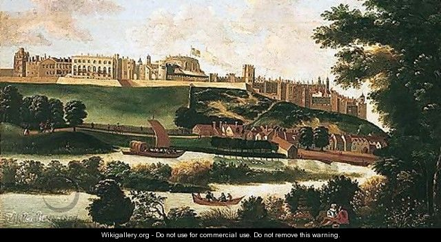 View Of Windsor Castle From The Thames - (after) Hendrick Danckerts