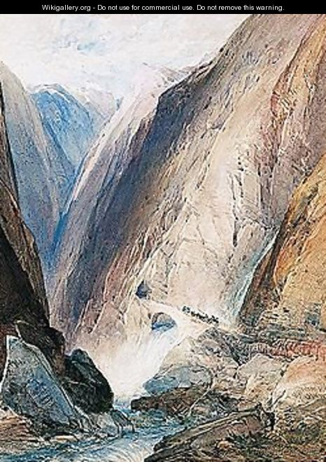 The Entrance To The Gorge Of Gondo, Simplon - William Callow