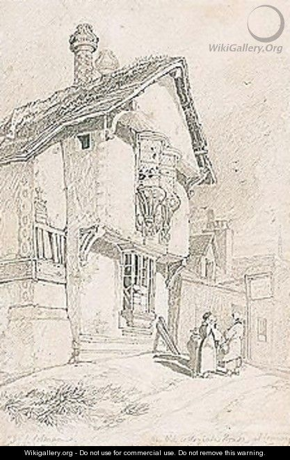 An Old Collegiate House At Conway - John Sell Cotman
