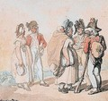 Officers Conversing With Country Women - Thomas Rowlandson