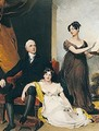Portrait Of Charles Binny (D.1822) With His Daughters - Sir Thomas Lawrence