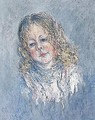 Portrait of a girl - Claude Oscar Monet