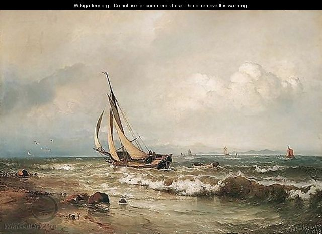 Skibe Pa Havet (Shipping In The Breakers) - Carl Frederik Sorensen