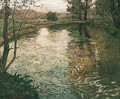 Elvelandskap (The River) - Fritz Thaulow