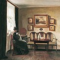 Ved Vinduet (By The Window) - Carl Vilhelm Holsoe
