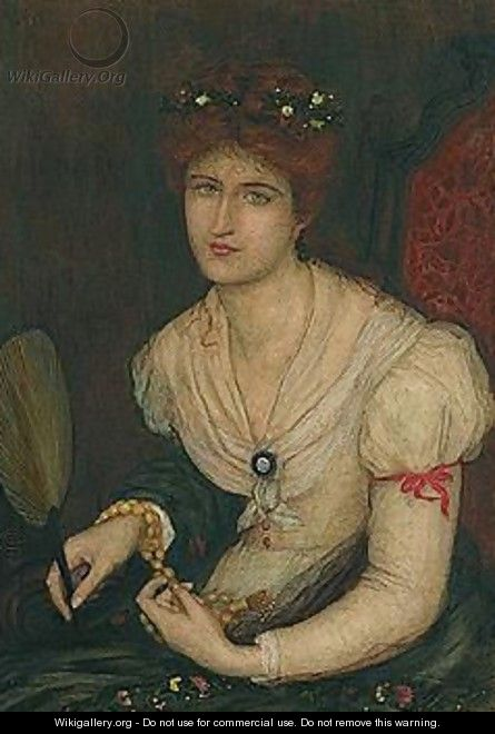 Portrait Of A Young Woman - Maria Euphrosyne Spartali, later Stillman