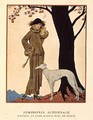 Autumnal Symphony, afternoon coat and dress by Worth - Georges Barbier