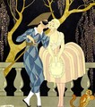 Harlequin's Kiss - Georges Barbier