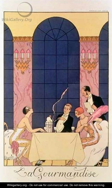The Gourmands - Georges Barbier