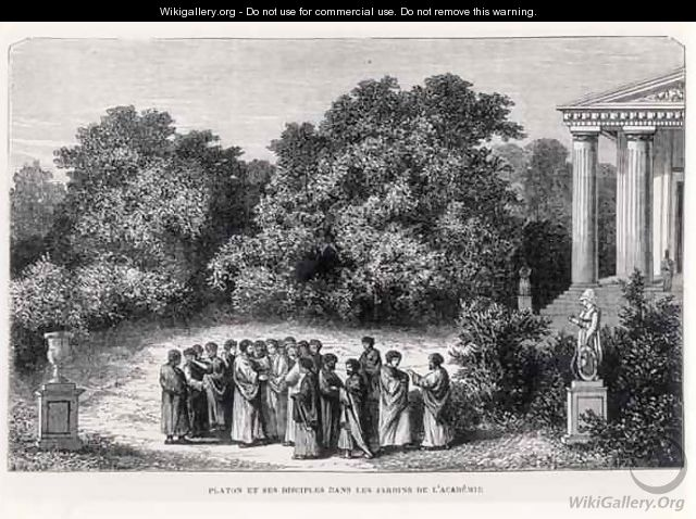 Plato (c.427-c.348 BC) and his Disciples in the Garden of the Academy - (after) Bar, Alexandre de