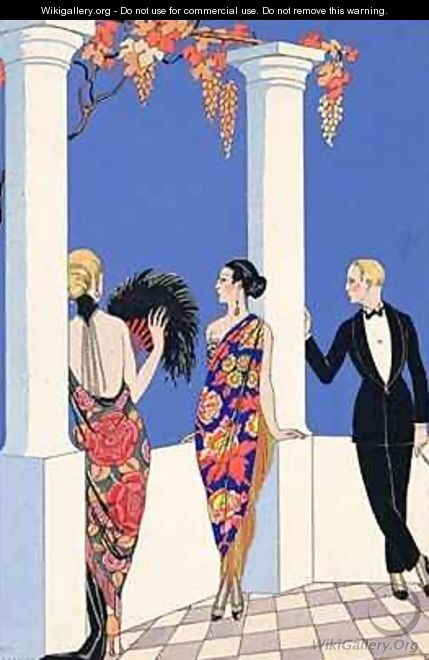 The Taste of Shawls - (after) Barbier, Georges
