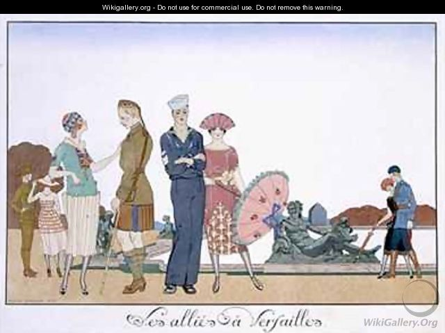 The Allies in Versailles - (after) Barbier, Georges