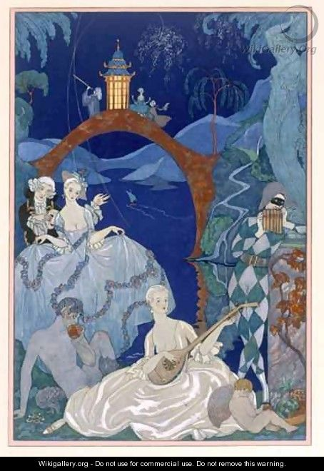 Ball Under the Blue Moon - (after) Barbier, Georges