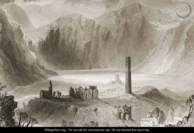 Glendalough, County Wicklow, Ireland - (after) Bartlett, William Henry