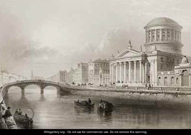 The Four Courts, Dublin - (after) Bartlett, William Henry