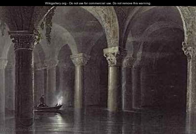 Yere Batan Serai (The Cisterns) Istanbul - (after) Bartlett, William Henry
