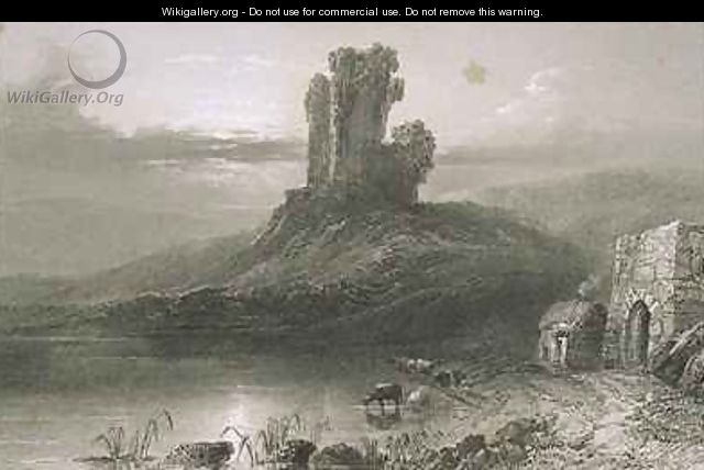 Kilcolman Castle, County Cork, Ireland - (after) Bartlett, William Henry