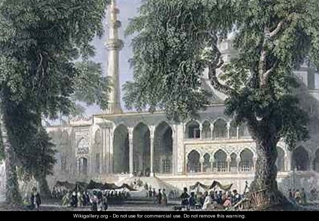 Yeni Djami, or Mosque of the Sultana Valide, Istanbul - (after) Bartlett, William Henry