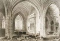 Interior of Holycross Abbey, County Tipperary, Ireland - (after) Bartlett, William Henry
