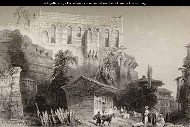 Palace of Belisarius, Turkey, Istanbul - (after) Bartlett, William Henry