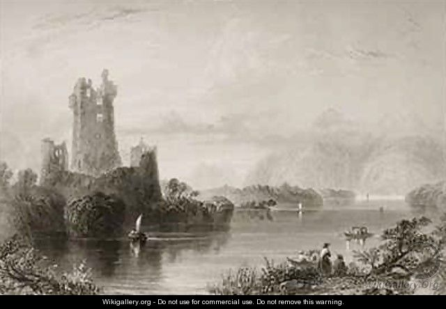 Ross Castle, Killarney, County Kerry - (after) Bartlett, William Henry