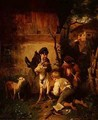 Boys playing with a goat - Peter Baumgartner