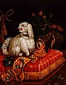 Poodle on a Cushion - V. Behr