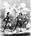 Illustration for 'Les Trois Mousquetaires' (The Three Musketeers) - (after) Beauce, Jean Adolphe