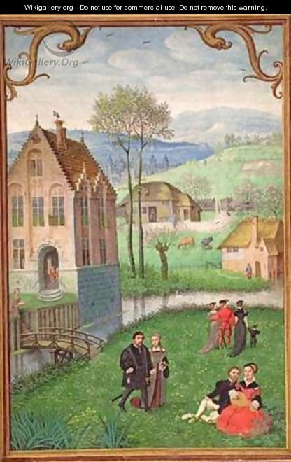 April courting couples, from a Book of Hours - Simon Bening