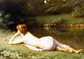 Reclining nude on a riverbank - Emmanuel Benner