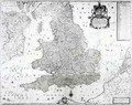 A New Map of the Kingdom of England and the Principalitie of Wales - William Berry